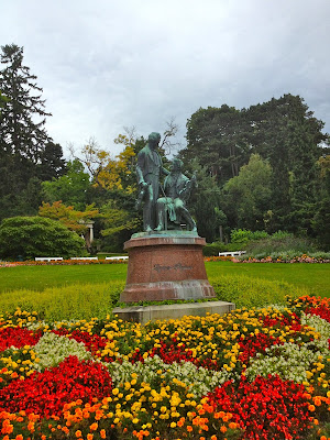 Picture of Kurpark or Spa Park in Baden bei Wien, Austria.