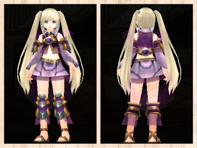 水纏の衣 紫1(ペレントボア)+桃2 重量化