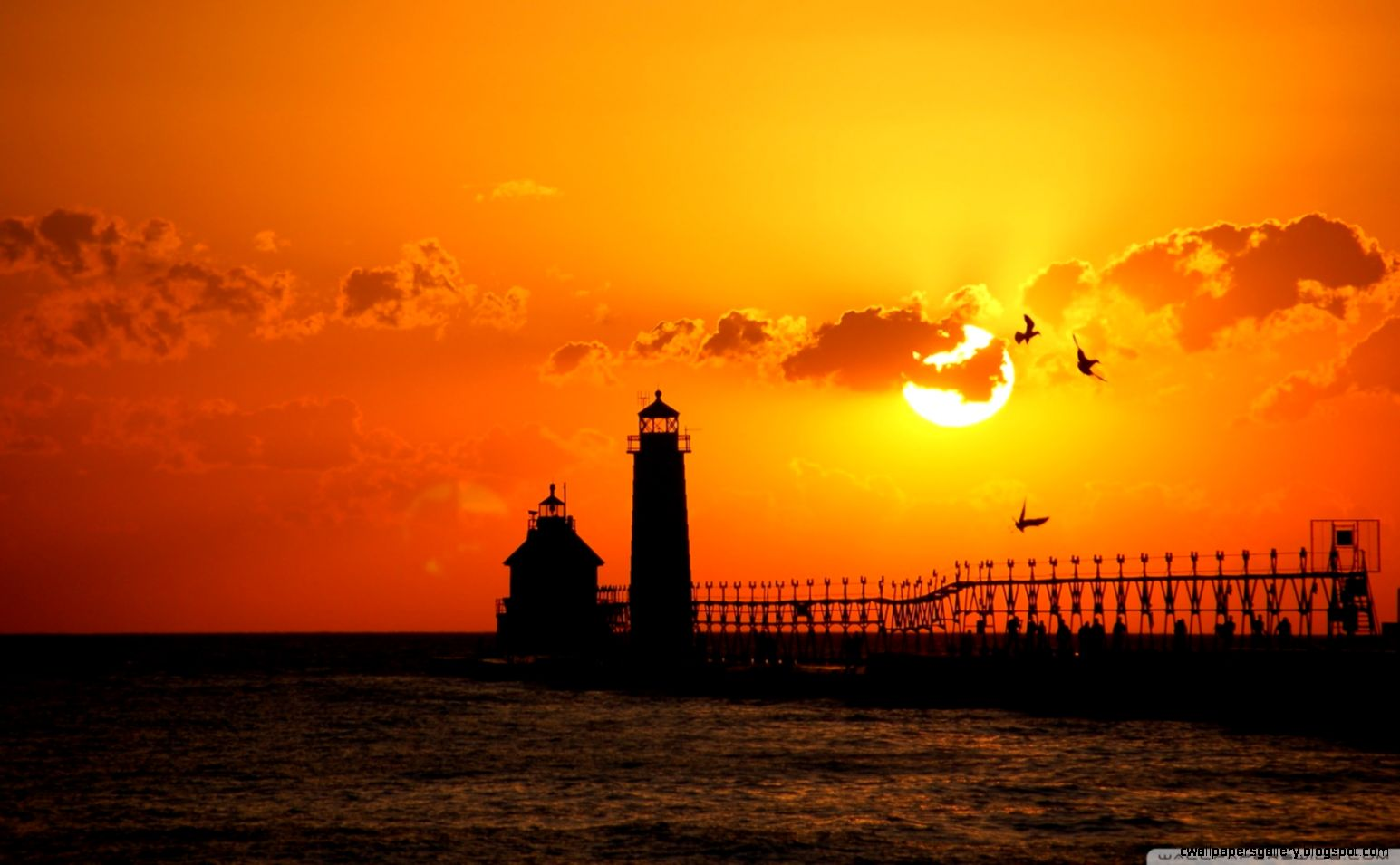Lighthouse At Sunset HD desktop wallpaper  Widescreen  High