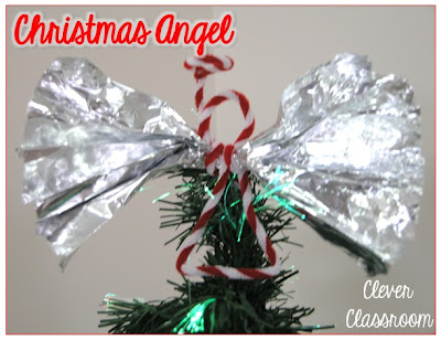 Tin foil Christmas angels from Clever Classroom