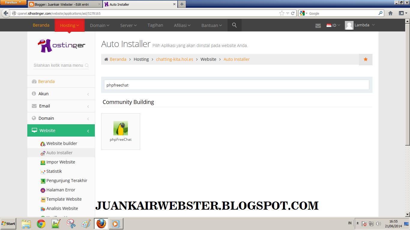 Cara Membuat Website Chatting Sendiri di Idhostinger   Juankair ...
