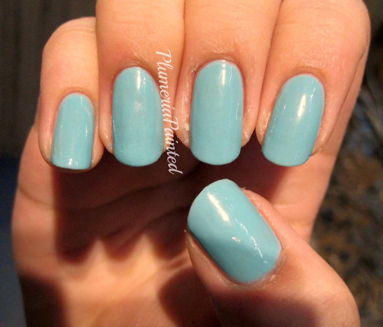 PlumeriaPainted: Green Nails: Rimmel - Misty Jade