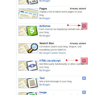 Menambahkan gadget di blog