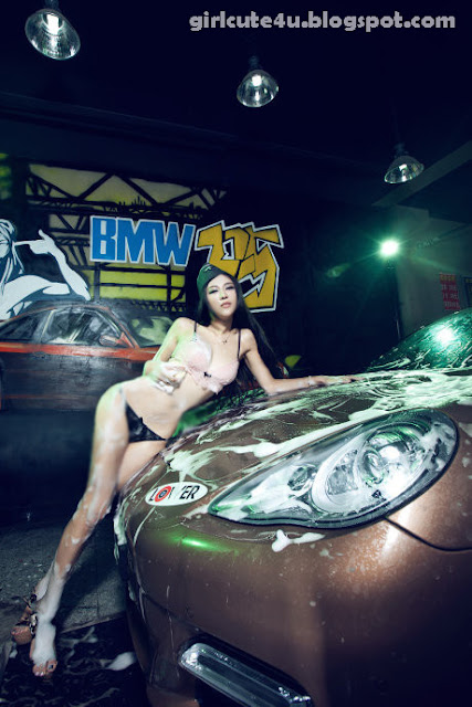 Gang-Xiao-Xi-Car-Washing-02-very cute asian girl-girlcute4u.blogspot.com