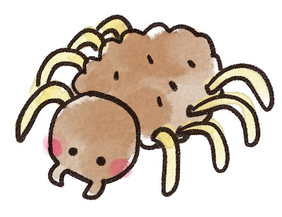 蜘蛛のイラスト(虫)