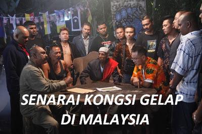 Senarai (Kongsi Gelap) Di Malaysia
