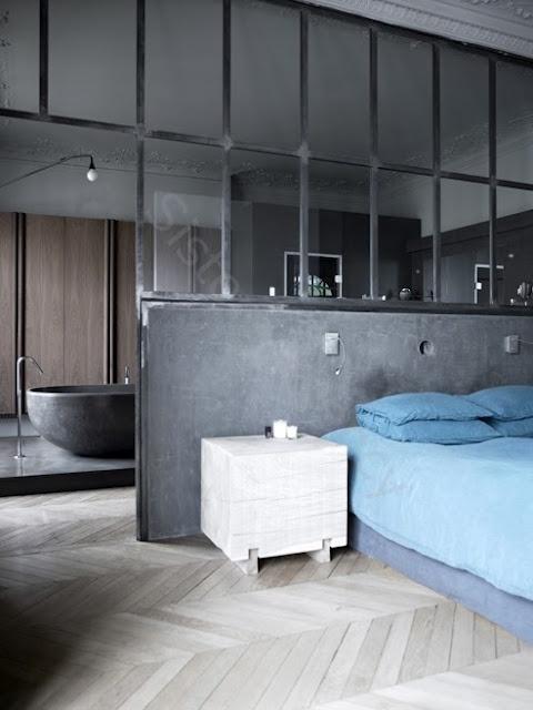 paredes de vidrio, pared de vidrio baño, cristal