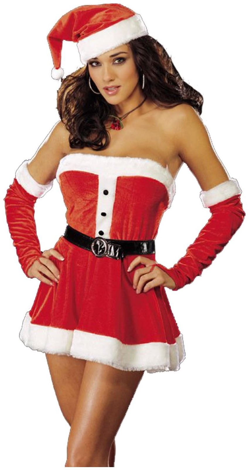 Santa's Sweetie Red Adult Costume for Christmas