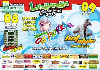 Carnaval 2013 em Luzilândia  é com o Bloco os Porkas