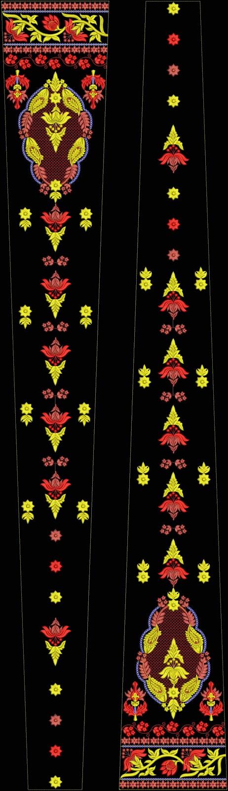 Embdesigntube Royal Neck Amp Ghagra Choli Embroidery Design