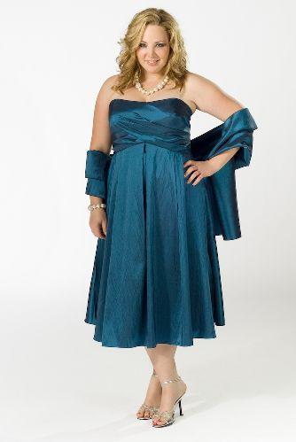 Vestidos de fiesta color turquesa para gorditas