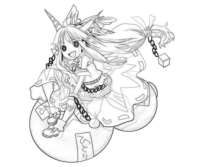 suika-ibuki-happy-coloring-pages