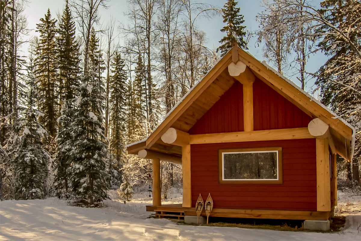 small log cabin for sale at horsefly lake bc, british columbia, canada