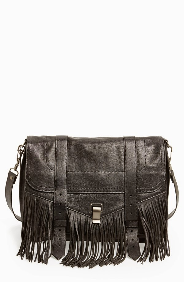proenza schouler ps1 fringed bag, proenza fringe purse, designer fringed handbag, fringe, fringe purses, best leather fringe black purse 2014, winter holiday purse guide, best purses trendy fringe