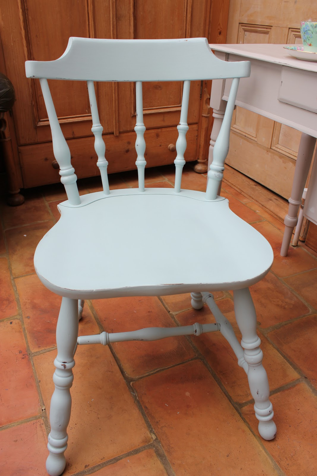 Alice 39 s room painted kitchen chair available for Painted kitchen chairs