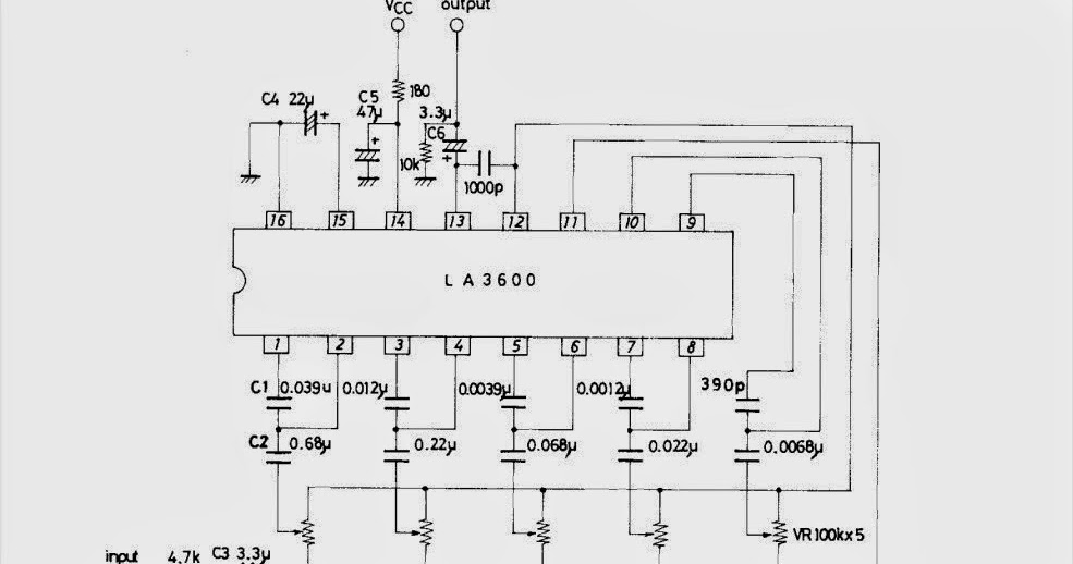schematic 5 band graphic equaliser circuit with la3600 and pcb rh schematic72 blogspot com