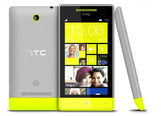 HTC Windows phone in Yellow