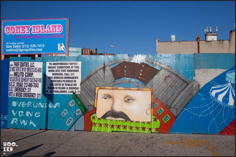 Coney island murals hookedblog uk street art news for Coney island mural