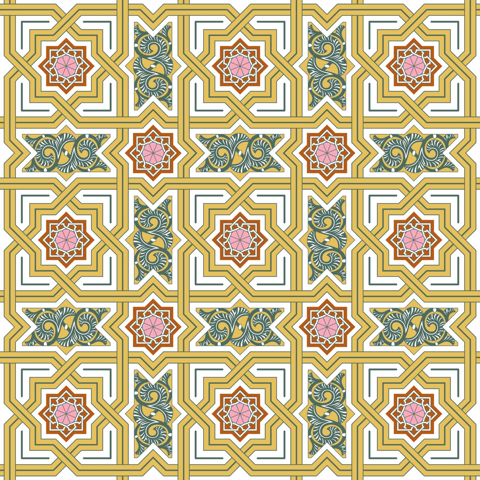 Art Design Patterns : Psychedelic patterns islamic style