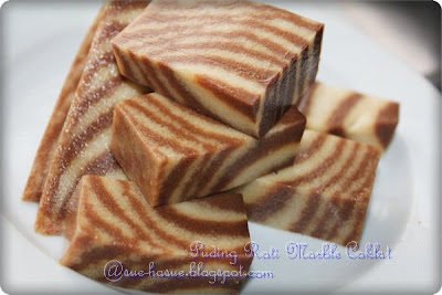 hasue i love my life resepi puding roti marble coklat