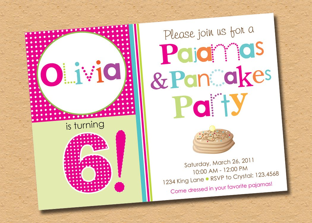Inkberry Cards Design Blog Designer Invitations Photo Cards – Pancake Party Invitations