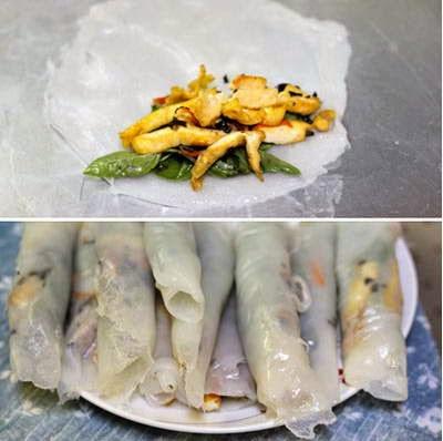 Vietnamese Recipes Vegetarian - Bánh Cuốn Chay