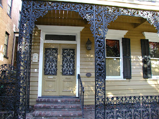 wrought ironwork on Savannah house