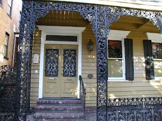 wrought ironwork on Savannah house