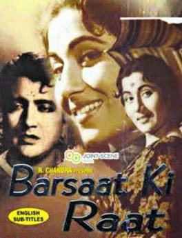 Poster Of Bollywood Movie Barsaat Ki Raat (1960) 300MB Compressed Small Size Pc Movie Free Download worldfree4u.com