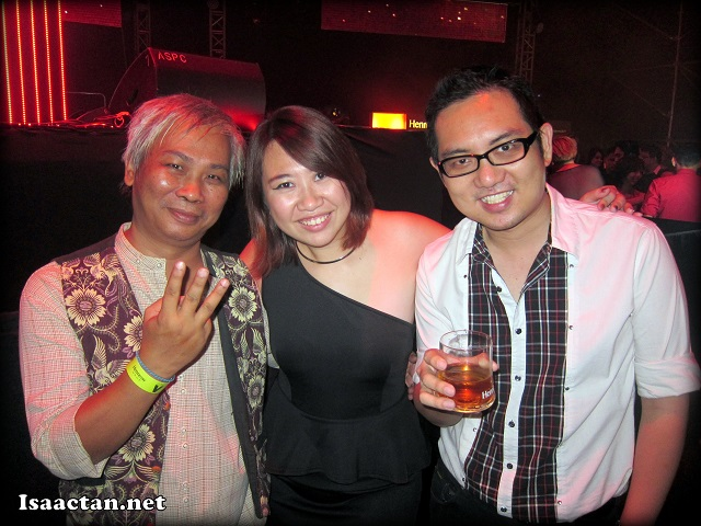 With the Penang bloggers, Emily and Criz