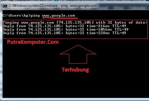 Definisi dan fungsi perintah Ping di CMD