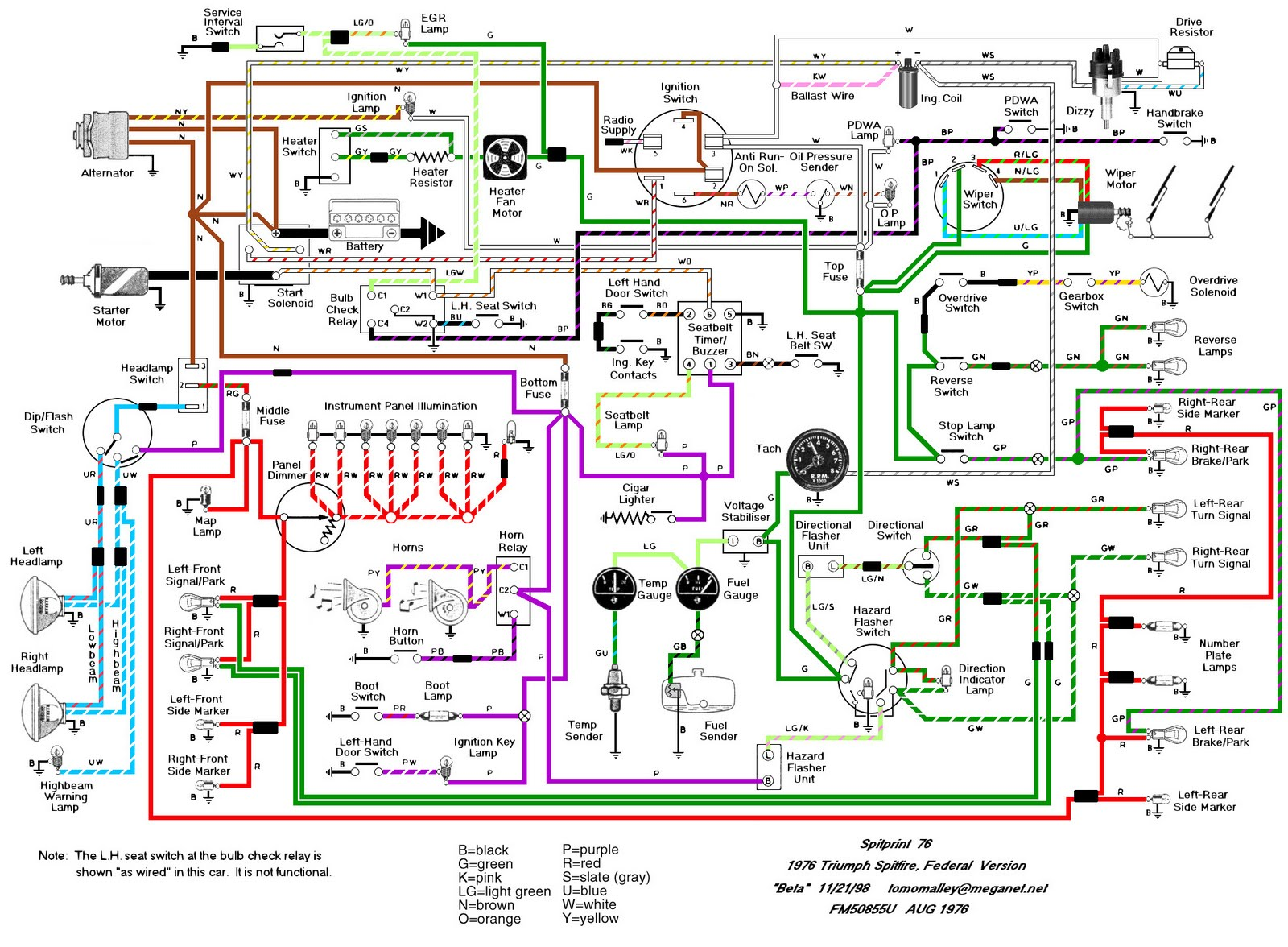 Triumph Spitfire Wiring Diagram on Factory Car Stereo Wiring Diagrams