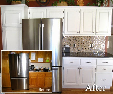 Diy Painted Kitchen Cabinets Before And After kitchen cabinets: diy kitchen cabinets