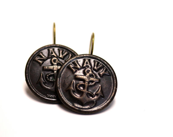Nautical Earrings by ChatterBlossom #navy #nautical #jewelry