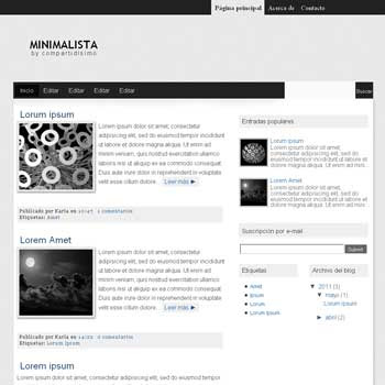 Minimalista blogger template. fixed sidebar blogger template
