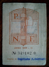 1928 - TESSERA DEL FASCIO DI CAPRIATE S. GERVASIO