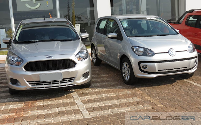 Novo Ford Ka 2015 x Volkswagen up! 2015