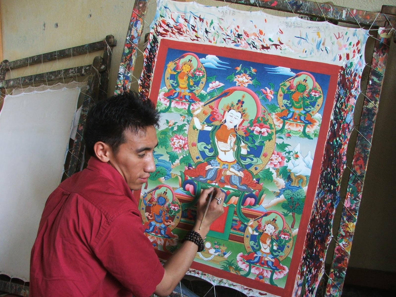 Thanka Painting as Found In Sikkim - Sikkim Souvenir