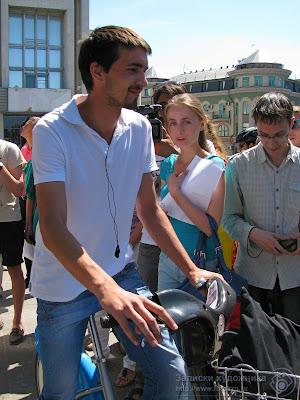 Тестовая обкатка велосипеда с платной парковки