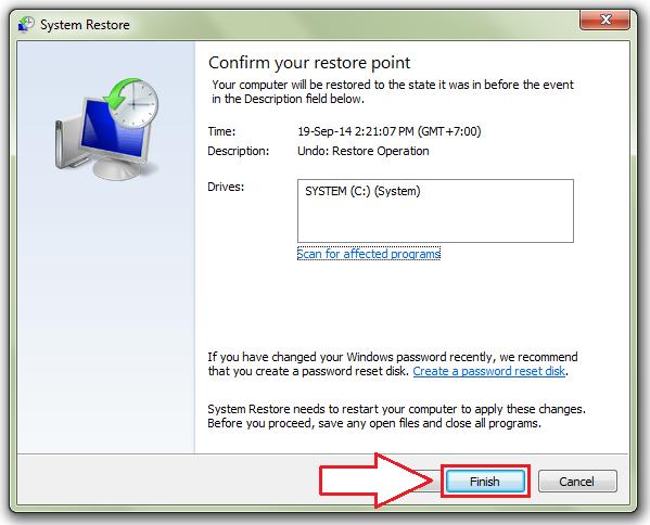 Cara Menggunakan Fitur System Restore di Windows 7 Sewa Rental Laptop,Komputer,TV Plasma,Proyektor,Printer