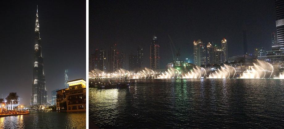 Ynas Reise BLog | VAE | Burj Khalifa und Wasserspiele am Abend