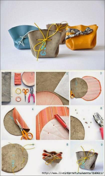 Выкройки и идеи для шитья косметичек.  Patterns and Ideas for sewing beauticians.