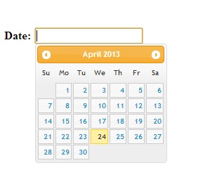 JQuery Datepicker Example or jQuery Calendar Example with asp.net textbox c#