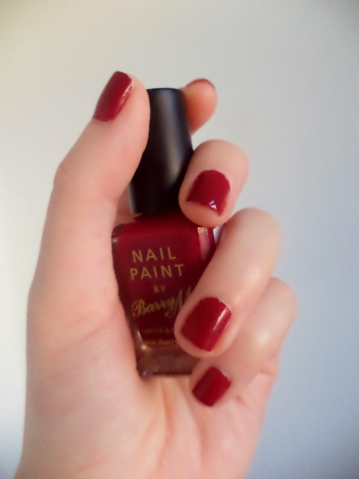 barry m nail paint raspberry