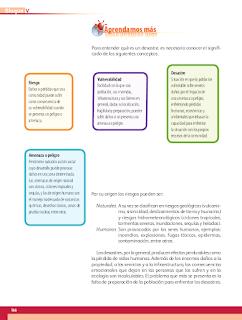 Los riesgos de no prevenir - Geografía Bloque 5to 2014-2015