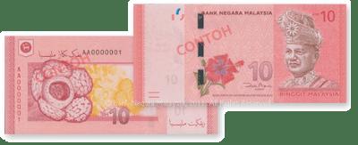 Wang Kertas Dan Duit Syiling Malaysia Siri Baharu - RM10