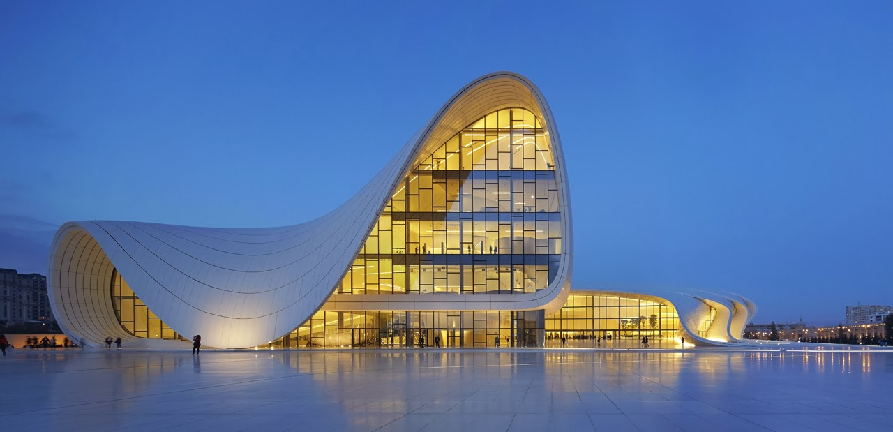 Design zaha hadid heydar aliyev cultural for Architecture celebre