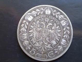1900 Austrian 5 corone coin-silver