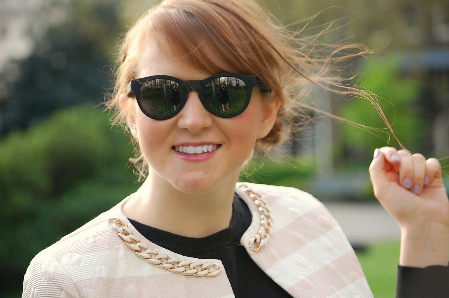 uk fashion and beauty blogger maui jim sunglasses and rinascimento one65 jacket