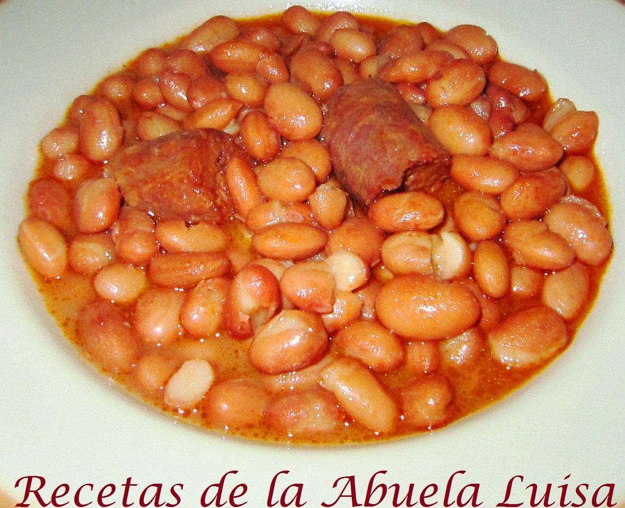 Judias pintas con chorizo recetas de la abuela luisa - Judias con chorizo y patatas ...